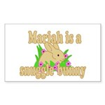 Mariah is a Snuggle Bunny Sticker (Rectangle 50 pk