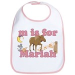 M is for Mariah Bib