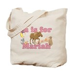 M is for Mariah Tote Bag