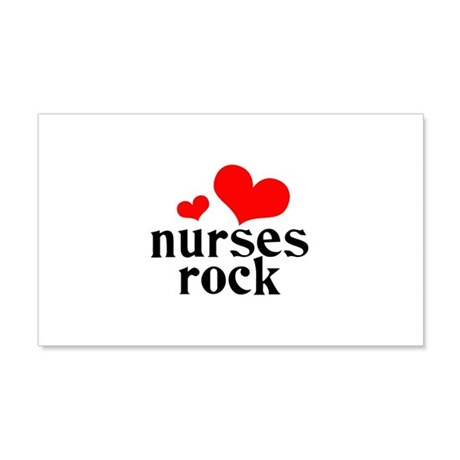 nurses rock (red/black) 22x14 Wall Peel