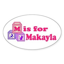 Baby Blocks Makayla Decal