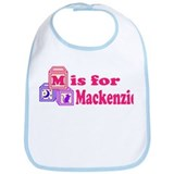 Baby Name Blocks - Mackenzie Bib