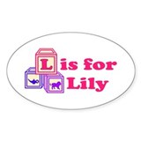 Baby Blocks Lily Decal