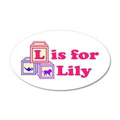 Baby Blocks Lily 22x14 Oval Wall Peel