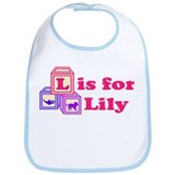 Baby Name Blocks - Lily Bib