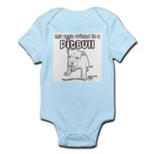 My Best Friend Is A Pitbull Infant Bodysuit