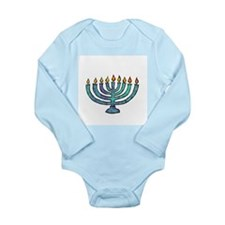 Menorah Long Sleeve Infant Bodysuit