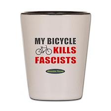 My Bicycle Kills Fascists Shot Glass