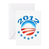 Obama 2012 with Stars Greeting Cards (Pk of 10)