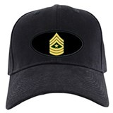 Sergeant Major<BR>Black Baseball Cap