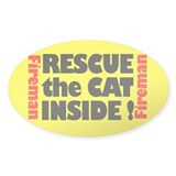 Rescue The Cat Inside Sticker (oval)