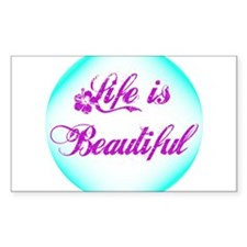 Pretty Life Is Beautiful Sticker (Rectangle)
