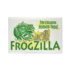 Frogzilla Fire-Croaking Frog Rectangle Magnet