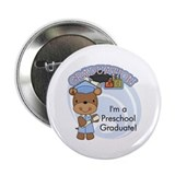 "Boy Bear Preschool Grad 2.25"" Button (10 pack)"