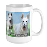 White German Shepherds Rock Ceramic Mugs