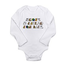 Adopt a Friend for Life Long Sleeve Infant Bodysui