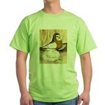 English Trumpeter Yellow Sadd Green T-Shirt