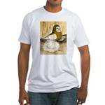 English Trumpeter Yellow Sadd Fitted T-Shirt