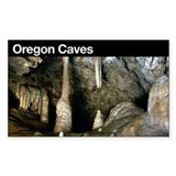 Oregon Caves NM Rectangle  Aufkleber