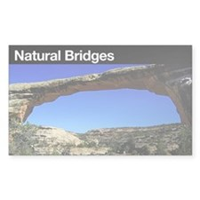 Natural Bridges NM Rectangle Decal