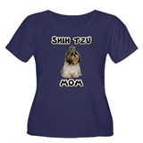 Shih Tzu Mom Women's Plus Size Scoop Neck Dark T-S