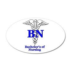 Bachelors of Nursing 38.5 x 24.5 Oval Wall Peel