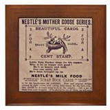 Nestle's Mother Goose Ad Framed Tile