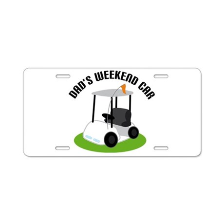 Funny Dad Golfing Gift License Plate