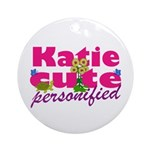 Cute Katie Ornament (Round)