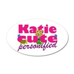 Cute Katie 22x14 Oval Wall Peel