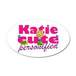 Cute Katie 22x14 Oval Wall Peel