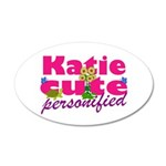 Cute Katie 38.5 x 24.5 Oval Wall Peel