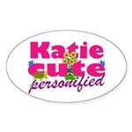 Cute Katie Sticker (Oval)
