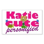 Cute Katie Sticker (Rectangle)