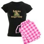 Katie is a Snuggle Bunny Women's Dark Pajamas