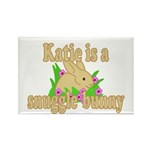 Katie is a Snuggle Bunny Rectangle Magnet (100 pac