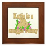 Katie is a Snuggle Bunny Framed Tile