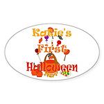 First Halloween Katie Sticker (Oval)