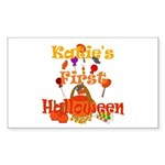 First Halloween Katie Sticker (Rectangle)
