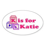 Baby Blocks Katie Sticker (Oval 50 pk)