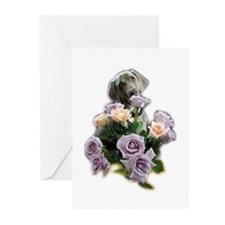 Blue-quet of Roses Greeting Cards (Pk of 10)