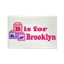 Baby Blocks Brooklyn Rectangle Magnet (100 pack)