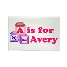 Baby Blocks Avery Rectangle Magnet