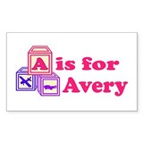 Baby Blocks Avery Decal