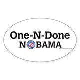 One-N-Done Nobama Oval Decal