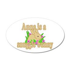 Anna is a Snuggle Bunny 38.5 x 24.5 Oval Wall Peel