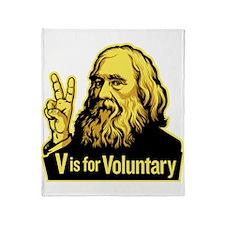 V is For Voluntary Throw Blanket