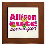 Cute Allison Framed Tile