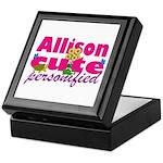 Cute Allison Keepsake Box