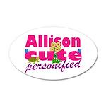 Cute Allison 22x14 Oval Wall Peel